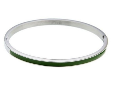 Dames bangle armband zilver groen